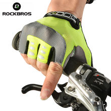 ROCKBROS Professional Cycling Gloves Mens Women's Sponge Pad Half Finger Gloves Bike Bicycle Cycle Non-Slip Breathable Gloves