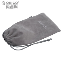 ORICO Phone Storage Velvet Bag Storage for USB Charger/USB Cable/Power Bank/Phone and More Gray Color(China)
