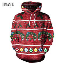 Cheap Fashion 3d Hoodies Men/Women Printed Christmas Pattern Sweatshirts Autumn Winter Hooded Unisex Pullovers Tops(China)