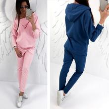 Buy BKLD New 2017 2 Piece Set Women Pant Top Tracksuit Hooded Hoodies Sweatshirt Pants Sets Casual Sweat Suits Women Clothes for $21.61 in AliExpress store