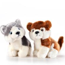 "Children Toys Cute 18cm 7"" Plush Doggy Doll Soft Toy Husky Dog Baby Kids Cute Stuffed Toys Gift(China)"