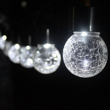 Fairy Luz De LED Solar Hanging Cracked Ball Lights String Lamp New Year  Christmas Garland Garden Outdoor Indoor Decoration 0a8cd86ff1e1