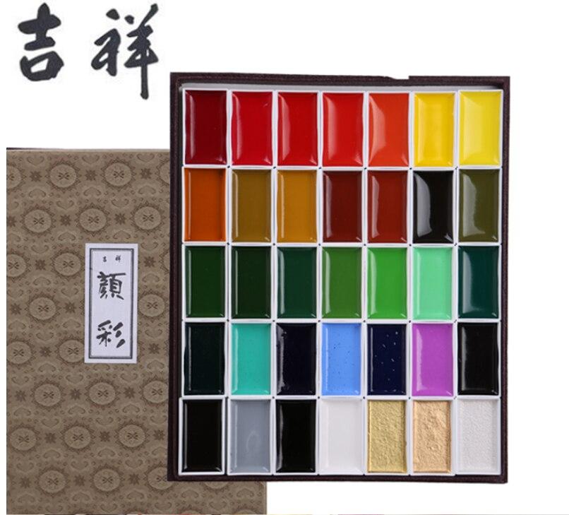 professional level Sakura  60/48/35/24/18/12/8 color solid watercolor pearl color Aquarelle Fine  artist pigment master rock<br>
