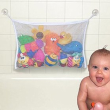 Children Playing In The Water Bath Toy Pouch Net Suction Cup Baskets 1pc Baby Bathroom Mesh Bag