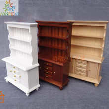 Display Cupboard Cabinet 3layer wooden miniature dollhouse 1/12 scale C001