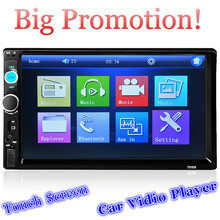 2 Din Car Radio MP5 Player 7'' HD Touch Screen Bluetooth Phone Stereo Radio FM/MP3/MP4/Audio/Video/USB Auto Electronics In Dash