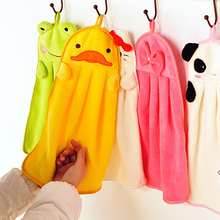 Cartoon Hand Towel Cleaner Soft Washcloth Loop Towel Coral velvet Facecloth Car Washing Cleaning Kitchen Bathroom Hanging towels