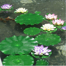 10pcs 18CM Artificial Lotus Leaf Floating Pool Decoration Water Decorative Aquarium Fish Pond Scenery Home Decoration gift craft