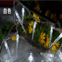 Luminaria 10M 80 LED Garland Christmas String Light Icicle Lamp for Christmas tree Garland wedding party Outdoor Decoration(China)