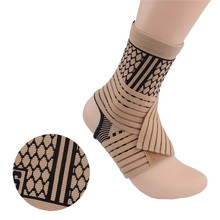 High elastic bandage compression knitting sports protector basketball soccer ankle support brace guard(China)