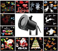 New Holiday Decoration Waterproof Outdoor LED Stage Light 12 Types Christmas Laser Snowflake Projector Lights Star Home Garden(China)