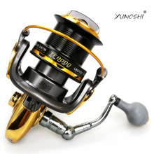 New YUMOSHI Big Game Spinning Fishing Reel 12+1 BB YOMORES TF 8000 9000 Long Cast Shot Saltwater