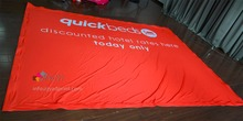 High Quality Dye Sublimation Printing Fabric Banners with  Velcro on around edge (200X500CM)