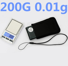 200g x 0.01g Mini LCD Digital Electronic Scale  Balance Diamond Jewelry Weight Gram Weighing Scale with Lanyard and holster