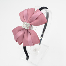 Women Girls lady Fashion Bow diamond Headband Hairband bowknot silk Elegant Hair Bands Holder Hoop headwear hair accessories(China)
