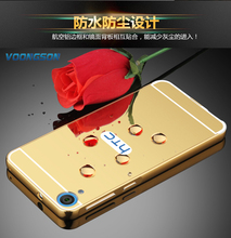 VOONGSON Light Metal Case with Aluminum Alloy Frame Mirror For HTC Desire 820 Dual Sim D820n 820S 820G+ D820us Free Shipping