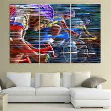 3 Piece Cool Bicycle Sport Race Modern Colorful Wall Painting Home Decor Wall Art HD Printed Canvas Modern Room Picture Unframed