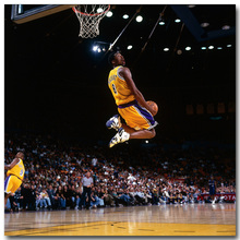 NICOLESHENTING Kobe Bryant Dunks Art Silk Fabric Poster Print 20x20 32x32inch Basketball Sports Picture Living Room Decor 022