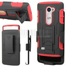 Rugged Armor Hybrid Hard Holster Case Shockproof Cover For LG Leon 4 G LTE C40/Power L22C/Destiny L21G/Tribute 2 LS665(China)
