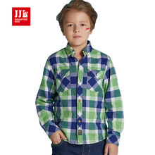 boys shirts plaid kids dress shirts size 6-15t kids clothes fall boys tops 2016 brand kid tops kids shirts retail boys clothing(China)