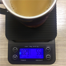 Buy 3kg Drip Coffee Scales Digital Kitchen Weight Scales Timer Electronic Scales 0.1g Blue Light Display for $37.00 in AliExpress store