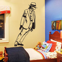 33*54cm Best Selling 2015 Dancing Michael Jackson Wall Stickers Removable Vinyl wall Decor Wall decals Art Poster DIY Home Decor