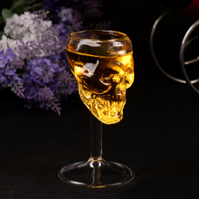 75ml Skull Glass Cup Stein Beer Wine Transparent Glass Head Vodka Whiskey Shot Drinking Water Mug Kitchen Bar Tool Caneca