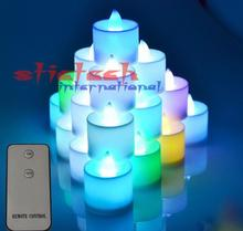 by dhl or ems 20 sets wholesale Wireless Remote Control Candle LED Light Electronic Flash Multi Colors Light Candle Lamp
