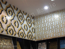 Gold Silver Alkali Resistant Mirror Glass Ceramic Mosaic tile for showroom decoration swimming pool home decoration