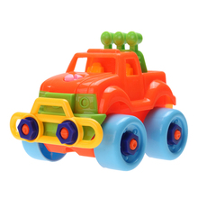 Baby Car Toy Pop Christmas Gift Kids Baby Boys Disassembly Assembly Plastic ABS Classic DIY Car Toy for Children(China)