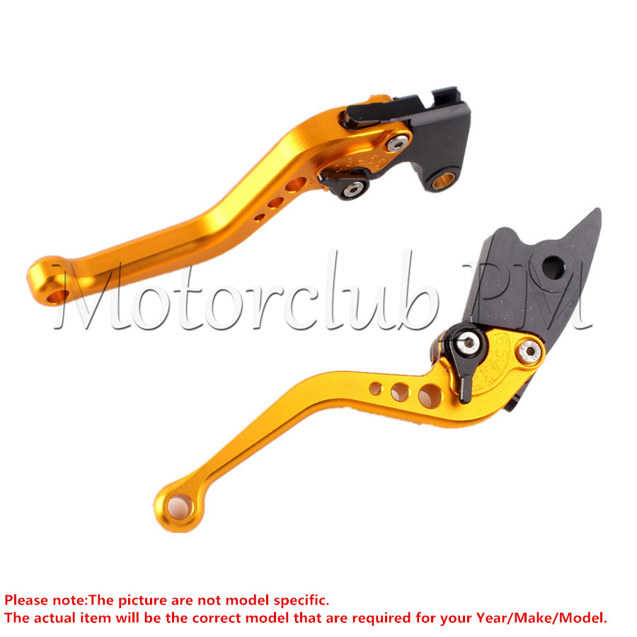 Short Brake Clutch Levers For Honda CBR 600 F2 F3 F4 F4I 91-07 CBR900RR CBR900 RR 1993-1999 1994 95 1998 Gold<br>