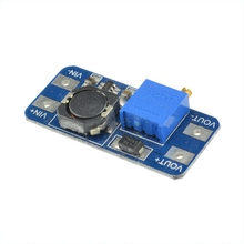 Free Shipping 5Pcs DC-DC Step Up Power Supply Booster MT3608 Max 2A 2V-24V To 28V Step-up Module For Arduino