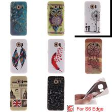 Fashion Ultra Thin TPU Silicone Soft Phone Mobile Case caso kryty capinha Cover For Samsung Samsug Samsuns Galaxy S6 Edge Tree
