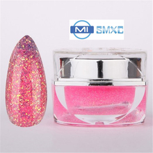 MISMXC 20ML 0.8OZ High Quality Soak Off UV Gel Shiny Colors Glitter Powder Nail Art Builder Gel 027(China)