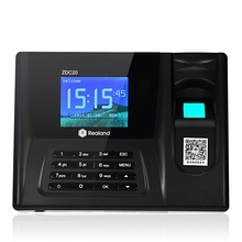 Free shipping 2.8 inch TFT 320*240 32bit CPU Realand ZDC20 Fingerprint Time Clock Attendance System ID Card Reader USB