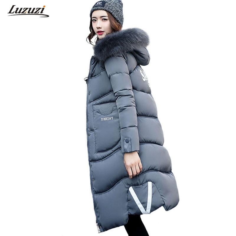 1PC Winter Jacket Women Parka Fur Hooded Thick Cotton Long Coats Winter Coat Women Jaqueta Feminina Inverno Chaqueta Mujer Z994Îäåæäà è àêñåññóàðû<br><br>