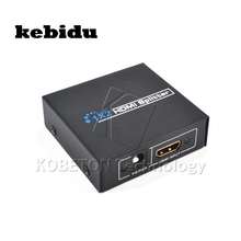 Kebidu 1 Вход 2 Выход Full HD HDMI Splitter 1x2 Порты и разъёмы HDMI Swith адаптер аудио-видео конвертер для PS3 для XBox 360 для HDTV(China)
