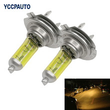 YCCPAUTO Car H7 Fog Lights Yellow Golden Bulb Xenon Gas Halogen 3200-3500K 100W 12V Light Source External Lamps 2PCS High Power(China)