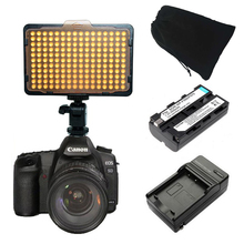 Buy 176 LEDs Video Light Camera lighting NP-F550 Battery Charger Canon Nikon Sony better cn-160 AL-160 free Bag for $38.89 in AliExpress store