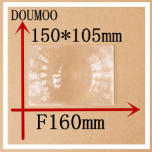 1 pcs / lot  size 150*105 MM Focal length 160 mm Acrylic fresnel Lens Rectangle Concentrated amplification fresnel lens solar