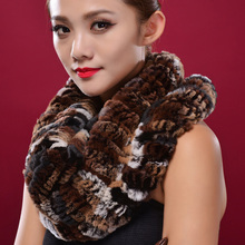 New Real Fur Scarves For Women Handmade Natural Rex Rabbit Fur Scarf Factory Direct Natural Rabbit Fur Shawls Wraps DL6156(China)
