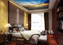 S-078/ Blue Sky /Print Ceiling tiles /PVC Stretched Ceiling Film/Home or Ceiling Decoration/Function as Ceiling Panel