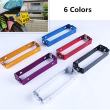 New 6 Colors Motorcycle Motorbike Adjustable Angle Aluminum Side Mount License Plate Holder Bracket Universal For Honda Suzuki