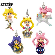 YNYNOO 5pcs/set Twinkle Dolly Sailor Moon Cute Version Action Figure Pendant Japanese Anime Toys Kids Gifts Figures #F(China)