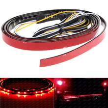 1.5m Flexible 2835 90SMD LED Tailgate Light Strip Color Light-emitting Diode Turn Signal Brake Lamp Bar for Pickup Automotives