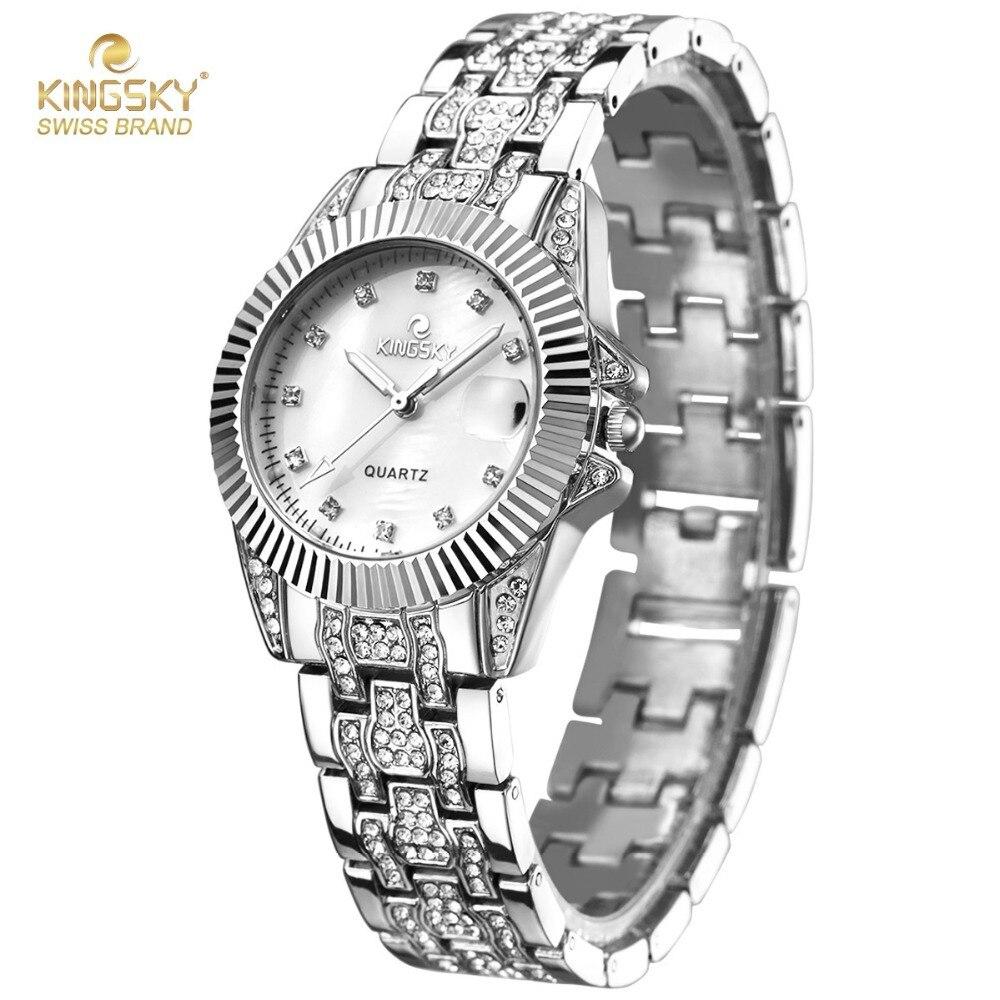 KINGSKY Brand Famous Calendar Women Watch New Casual Ladies Watches Quartz Fashion Reloj Mujer 1276# 2017 New<br>