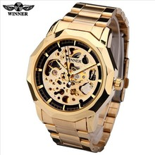 Men's hollow automatic mechanical watch sport leisure table steel strip L76