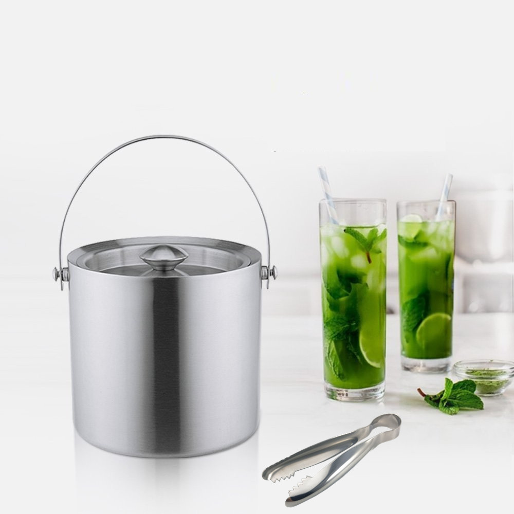 stainless steel ice bucket chiller wine cooler