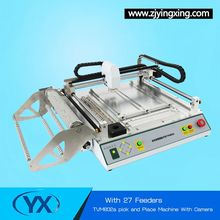 27 Feeders TVM802A Desktop SMD Pick and Place Machine/ SMT LED Assemble Robot With BGA Repair Station