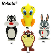 New arrive cat/duck/rabbit/lion cartoon usb flash drive 64gb pen drive 32gb 16gb 8gb 4gb memory stick funny pendrive u disk(China)